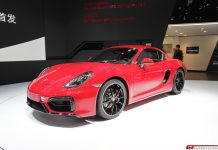 Porsche Cayman GTS at Beijing Motor Show 2014