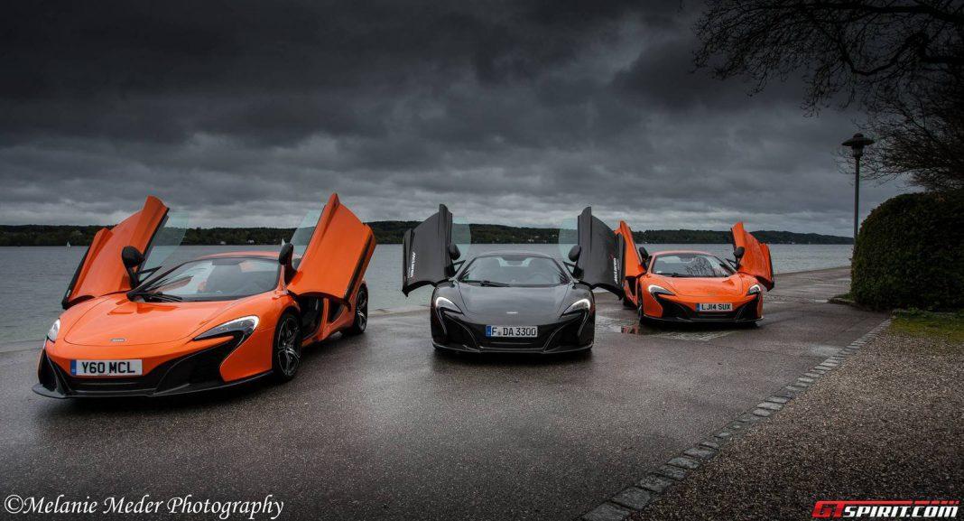 Four McLaren 650Ss in Munich, Germany!