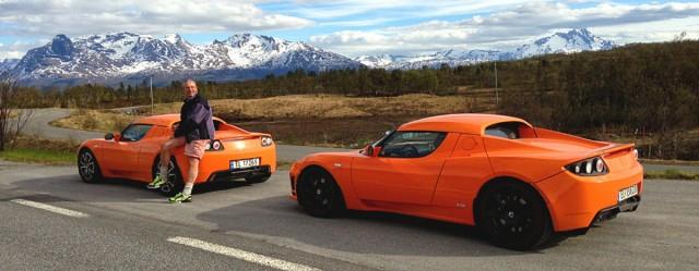 """Meet """"Tesla Jens"""" from the Arctic Circle; Owns 7 Tesla Cars"""