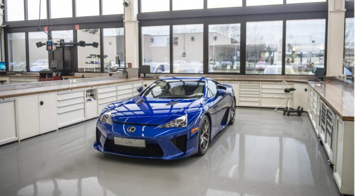 This Is How a Lexus LFA Is Serviced