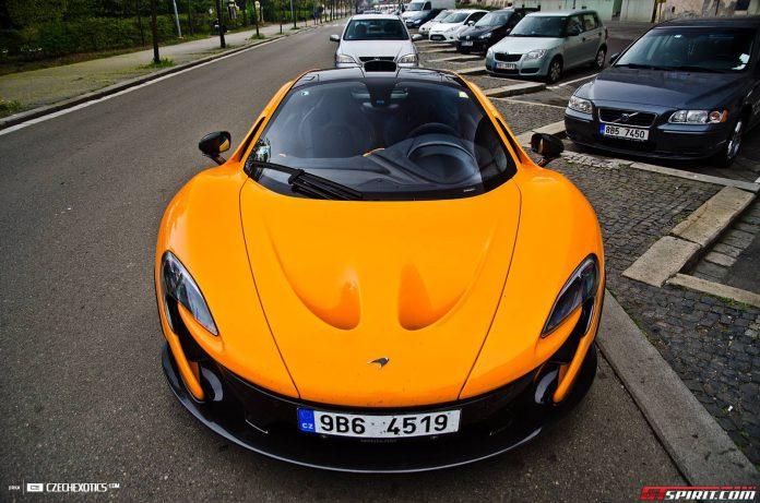 Orange McLaren P1 from Czech Republic