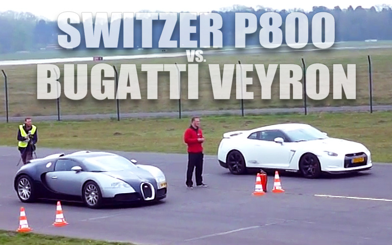 video: switzer p800 nissan gt-r vs. mansory bugatti veyron - gtspirit