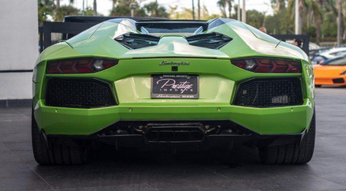 Verde Ithaca Lamborghini Aventador by Vorsteiner For Sale