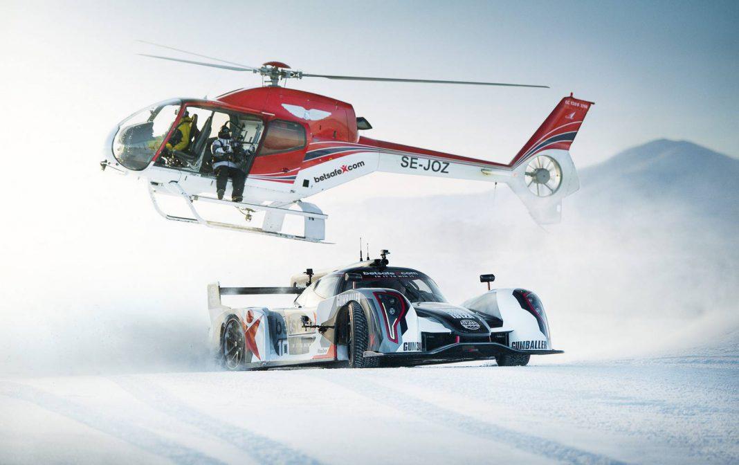 Jon Olsson Drifts His Rebellion R2K Uphill in the Snow!