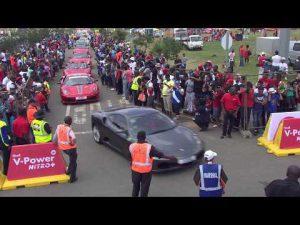 Shell v power nitro ferrari event in johannesburg south africa