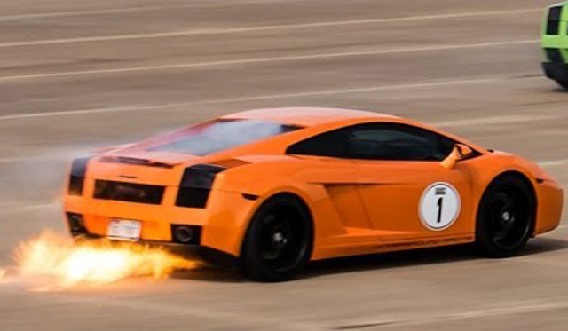 Video: 1800hp+ Lamborghini Gallardo Catches Fire at 200mph