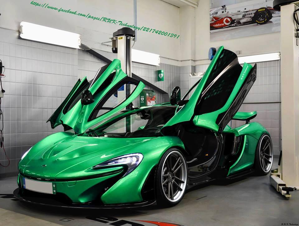 overkill: green mclaren p1 render - gtspirit