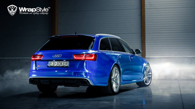 Chrome Blue Audi RS6 by WrapStyle