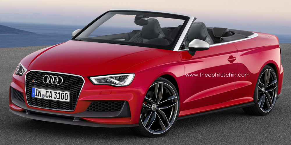 Future Audi RS3 Cabriolet Rendered