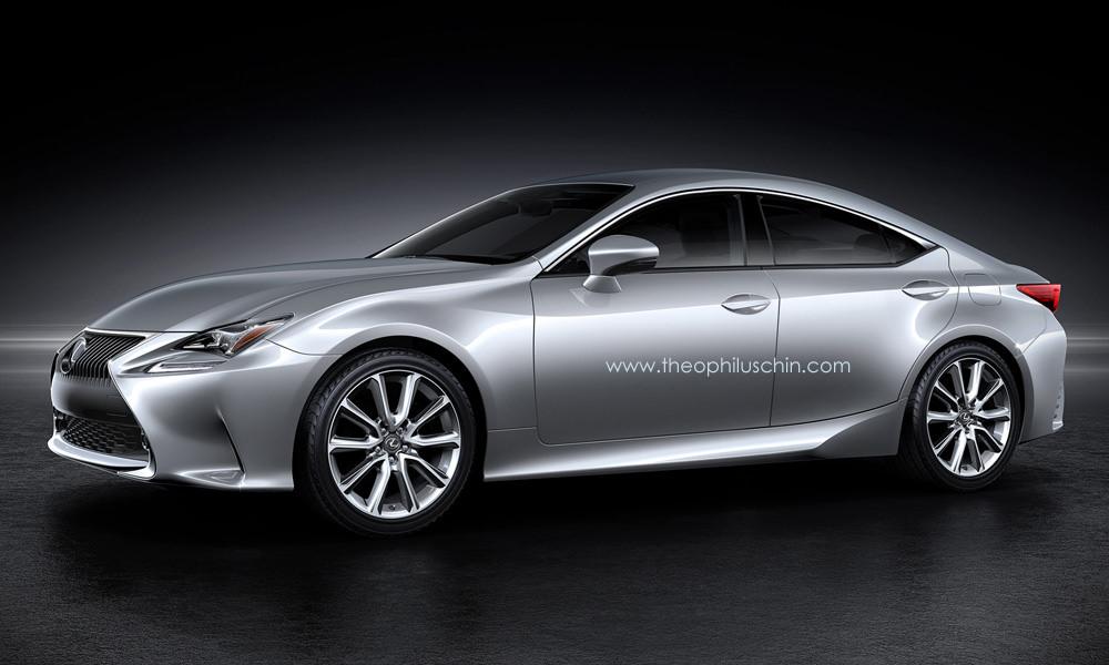 Four-Door Lexus RC GT Rendered