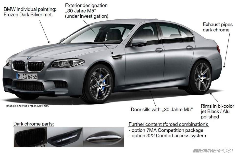 BMW M5 30th Anniversary Edition With 600hp Leaks