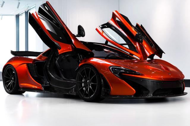 Striking Volcano Orange McLaren P1 For Sale in Germany