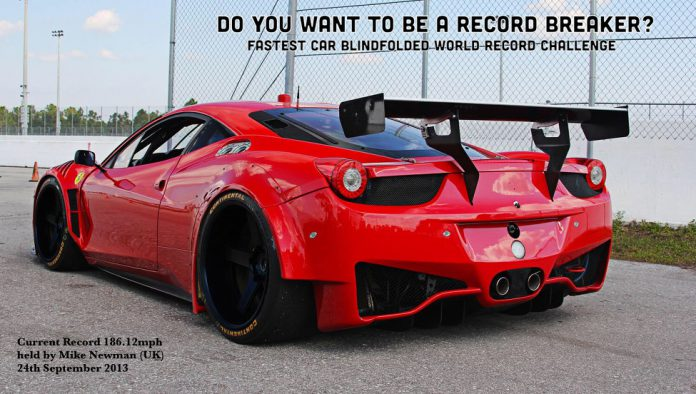You Could Set a Blindfolded Top Speed Record in a Ferrari 458 Challenge