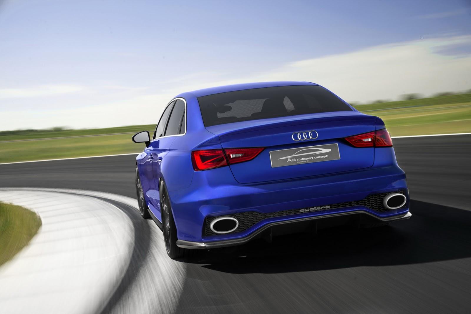 Video Audi A3 Clubsport Quattro Concept Showcases Huge Air Brake
