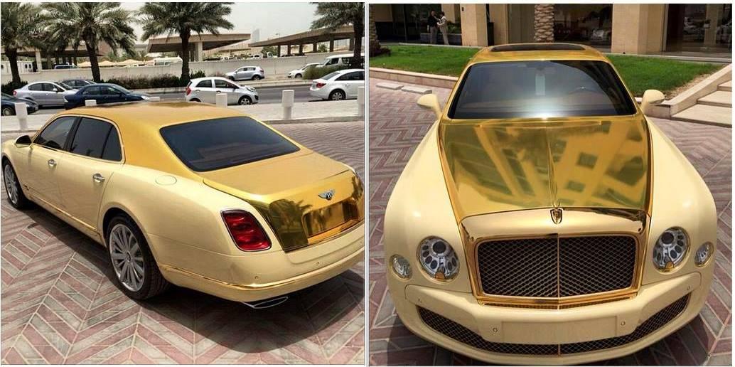 Gold Bentley Mulsanne in Qatar