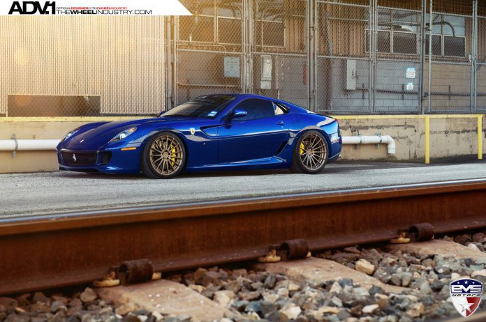 Rare Blue Ferrari 599 GTB on Bronze ADV.1 Wheels is Impeccible!