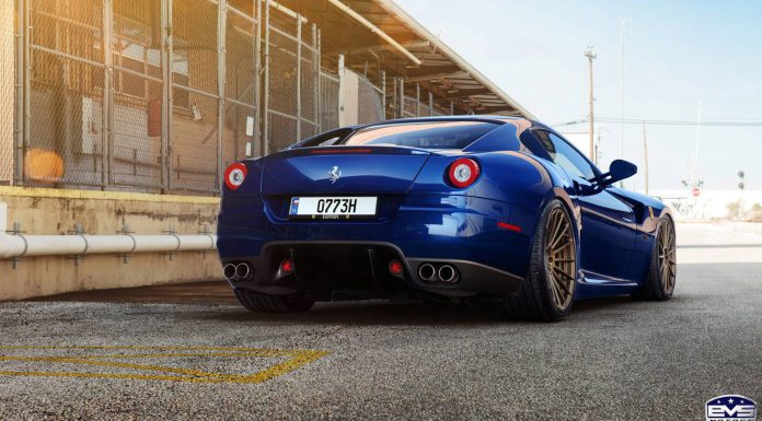 Rare Blue Ferrari 599 GTB on Bronze ADV.1 Wheels is Impeccible!