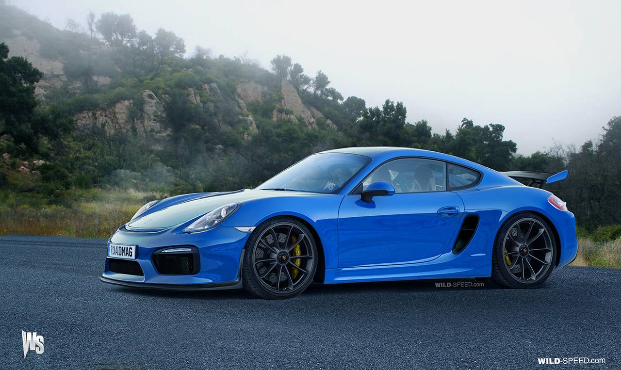 Upcoming Porsche Cayman Gt4 Expertly Rendered