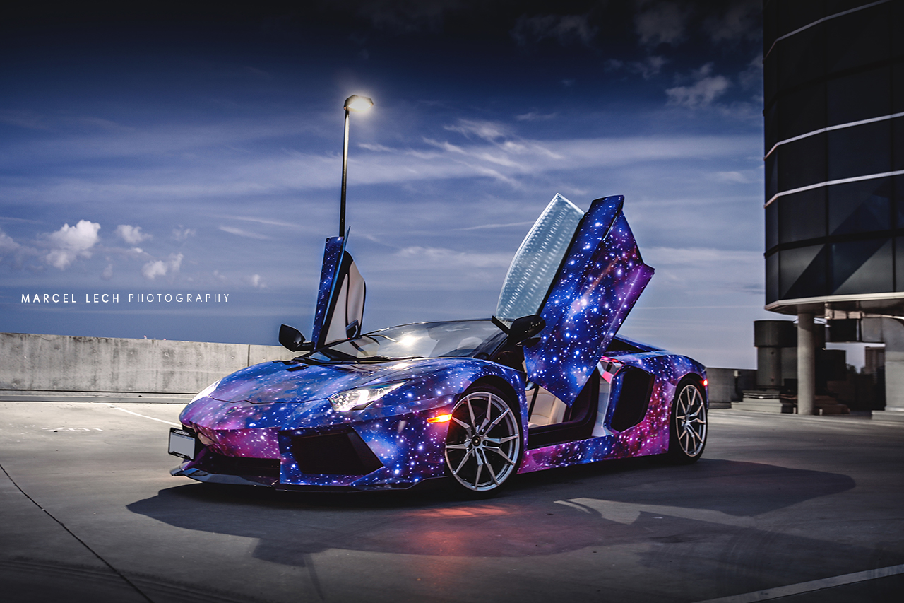 Canada S First Lamborghini Aventador Roadster Shows Off New Galaxy