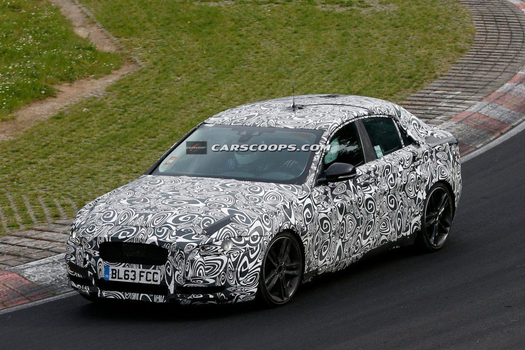 Supercharged V6 Jaguar XE Tests at the Nurburgring