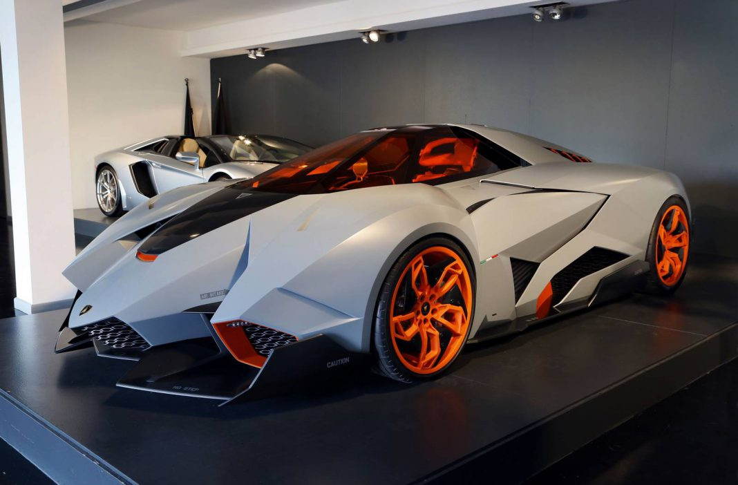 lamborghini egoista goes on permanent display at lamborghini hq gtspirit. Black Bedroom Furniture Sets. Home Design Ideas