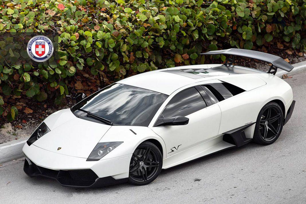 Stunning Matte White Lamborghini Murcielago SV on HRE Wheels