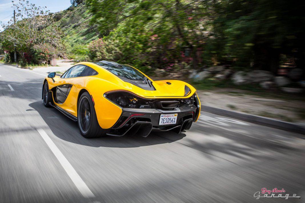 Video: Jay Leno Drives His Brand New Volcano Yellow McLaren P1!