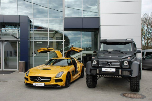 Power Duo Mercedes Benz Sls Amg Black Series And G63 Amg