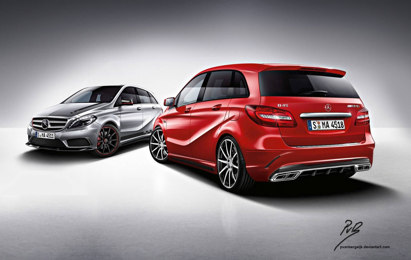 How a mercedes benz b45 amg could look gtspirit for How much are mercedes benz