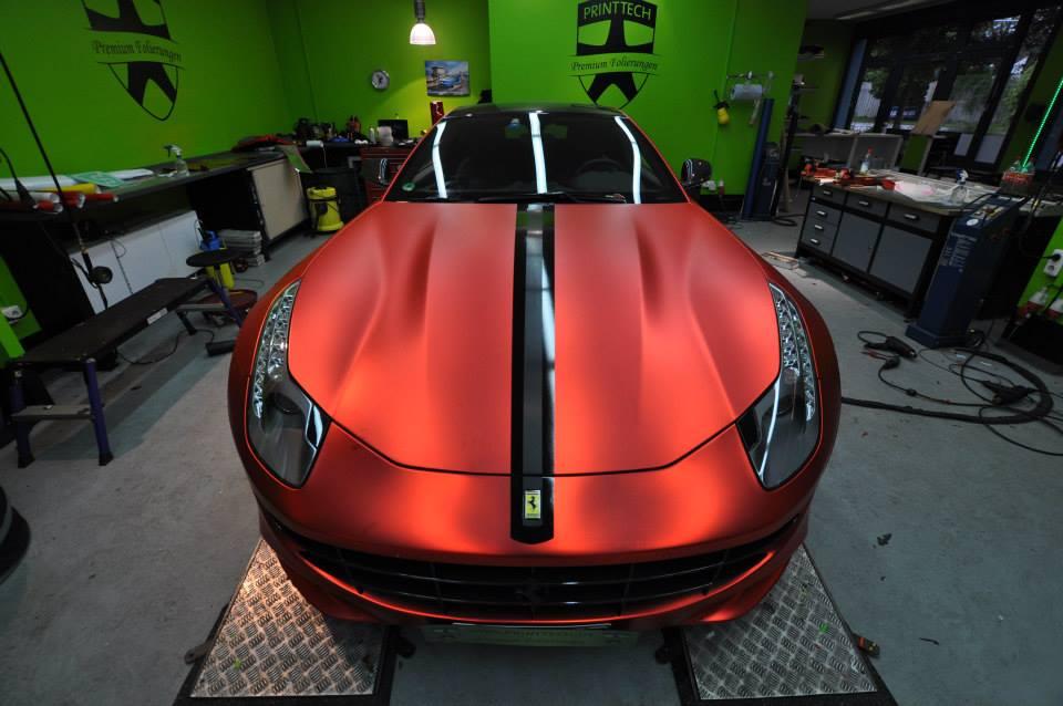 Novitec Rosso Ferrari FF Wrapped in Orange Rot Chrome