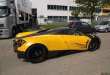 Yellow and Brown Pagani Huayra