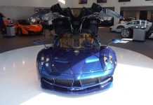 Blue Pagani Huayra US-Spec