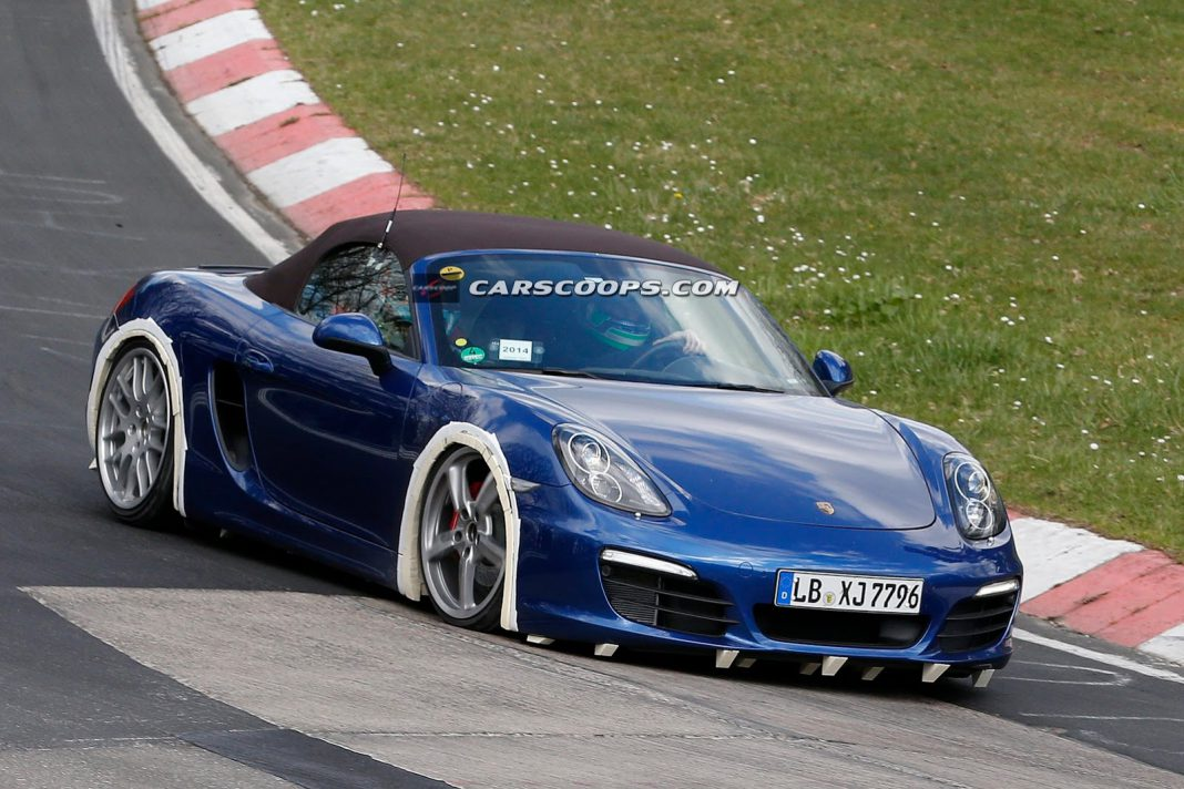 Porsche Boxster Powered by Four-Cylinder Spotted at Nurburgring