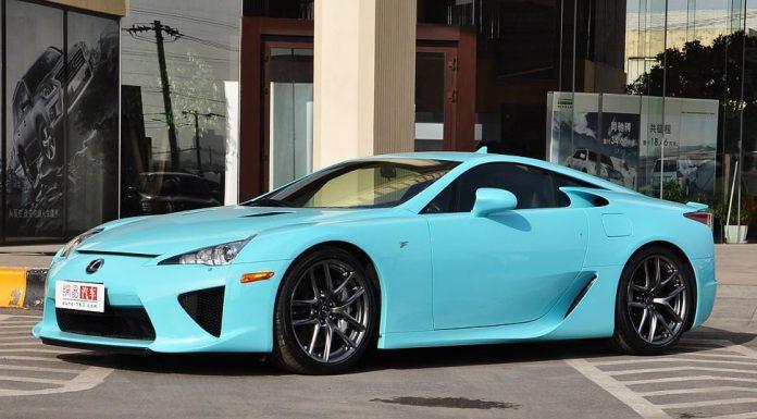 Tifanny Blue Lexus LFA