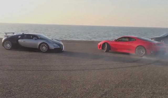 Video: Ferrari F430 Drifts Around Bugatti Veyron