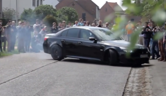 Video: 600hp BMW M5 Burnout FAIL!