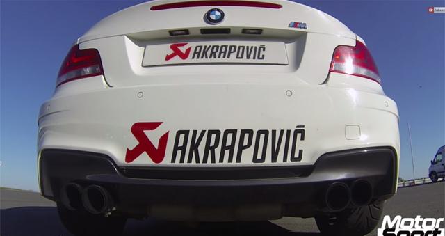 Video: Akrapovic Equipped BMW 1M Sprinting to 250 km/h