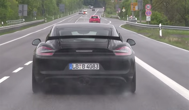 Video: Porsche Cayman GT4 on the Move