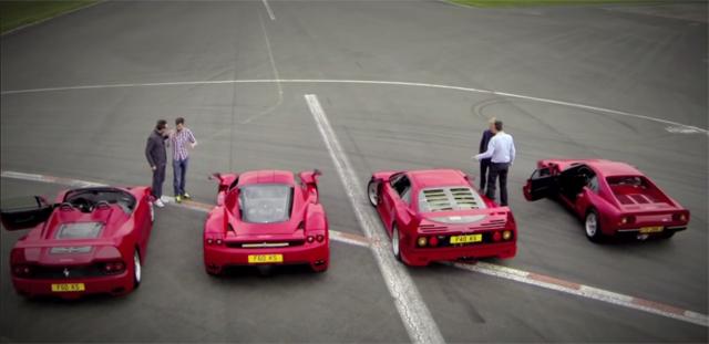 Video: Top Gear Gathers Ferrari Enzo, F40, F50 and 288 GTO