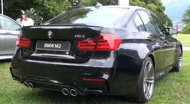 Video: Black BMW M3 Revs at Villa d'Este 2014