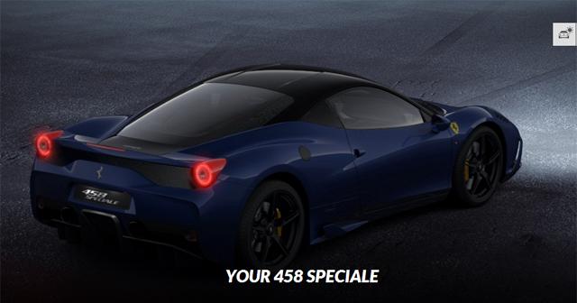 Go Nuts With the Ferrari 458 Speciale Configurator