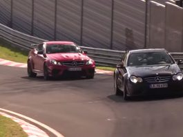 Video: Mercedes-Benz CLK 63 AMG Black and C 63 AMG Black Hit the 'Ring