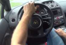 Video: POV of Lamborghini Gallardo LP550-2 Tricolore Powersliding!