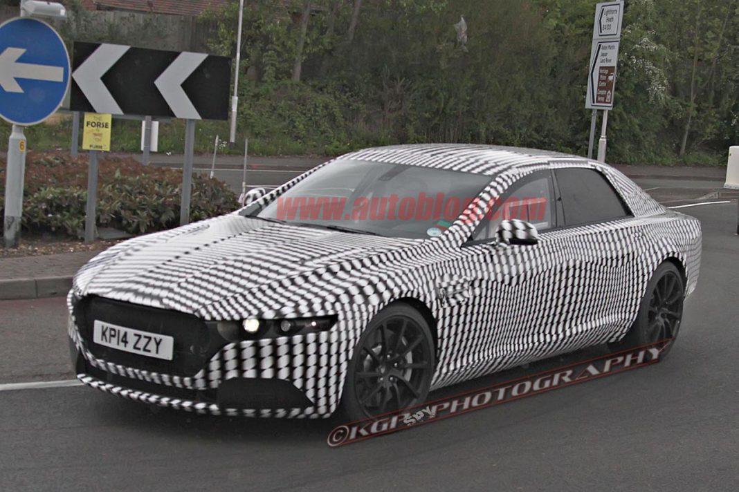 Possible Aston Martin Lagonda Sedan Snapped Testing