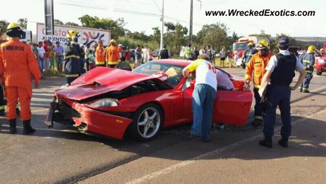 Ferrari 550 Maranello Wrecked in Brazil