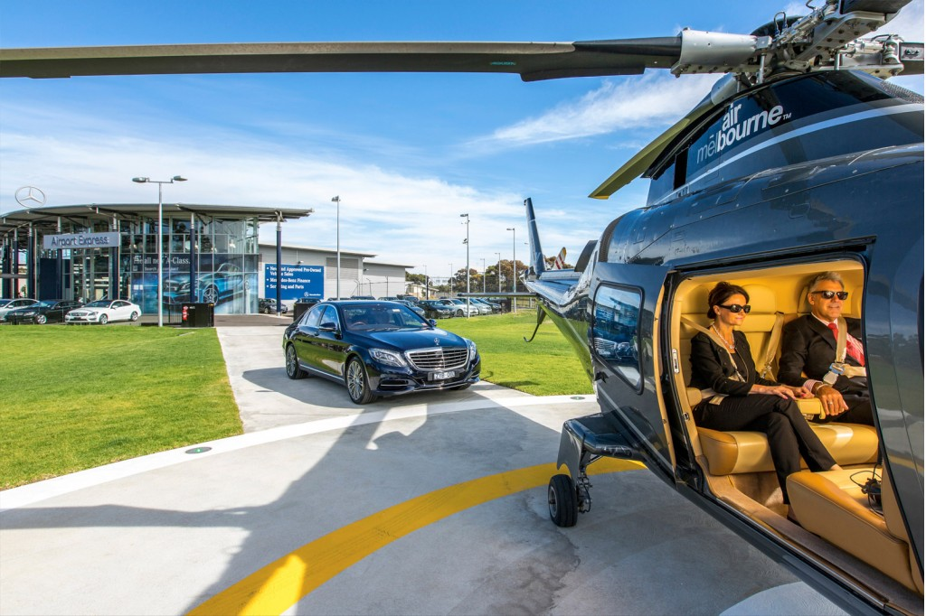 Mercedes-Benz Australia Offering Helicopter Transfers