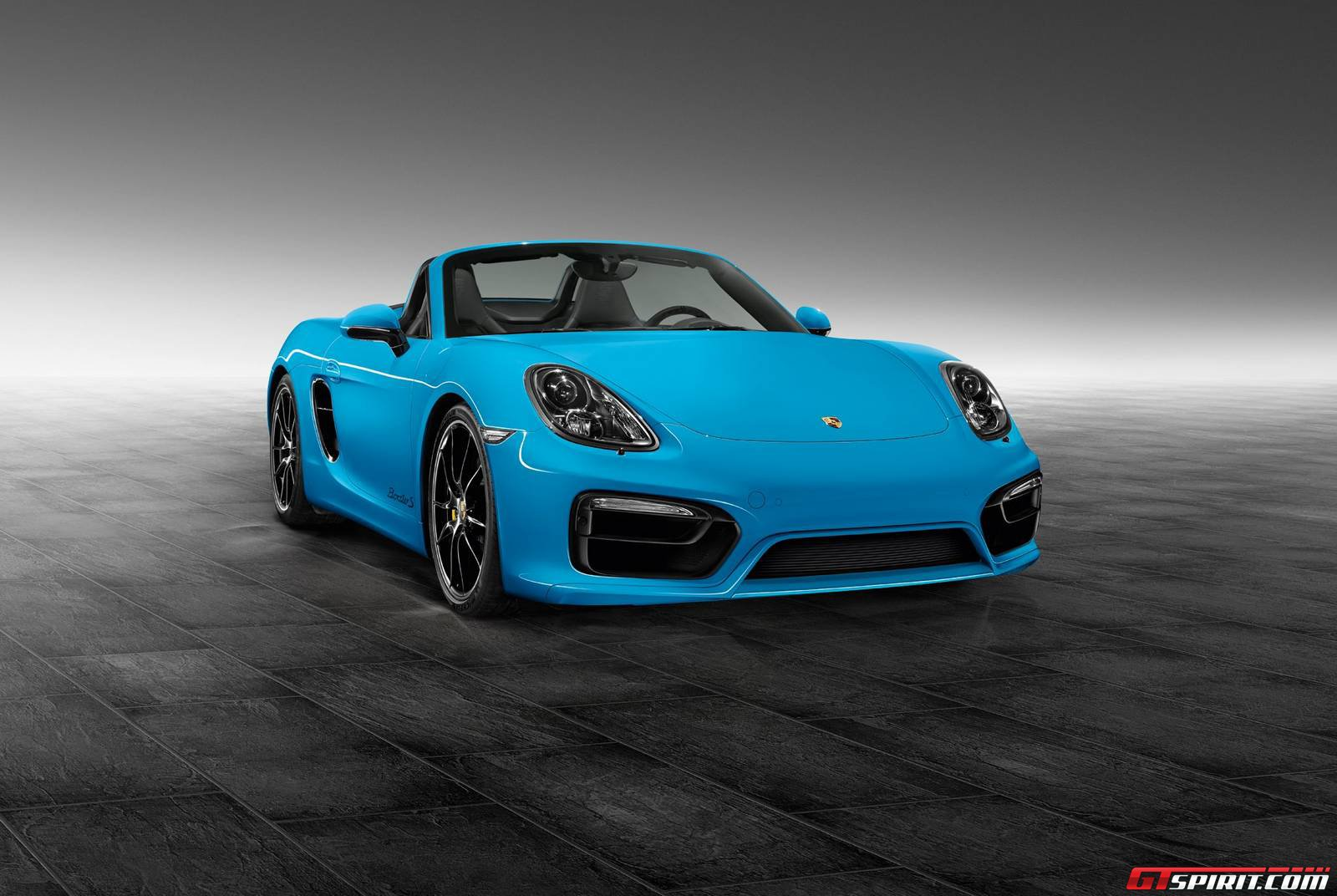 official riviera blue porsche boxster s by porsche