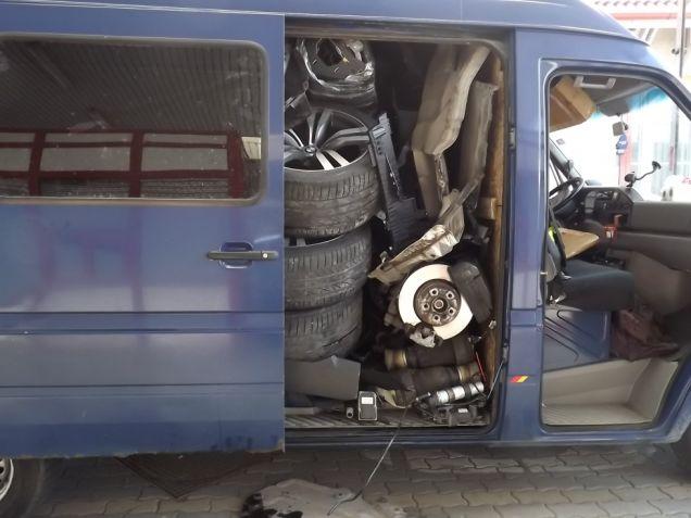 Stolen BMW X6 Found Dismantled in Mercedes Sprinter Van