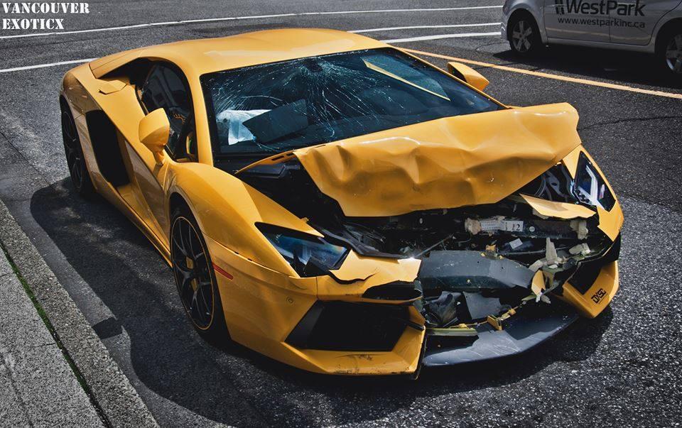 Lamborghini Aventador Wrecked in Vancouver