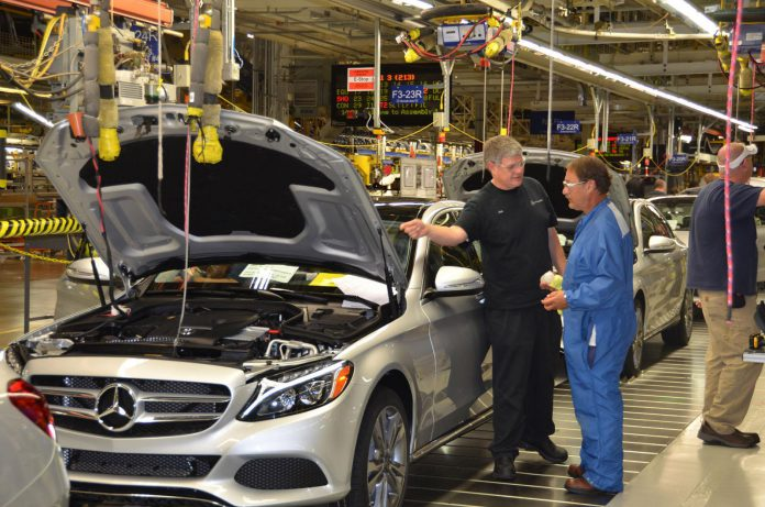 U.S. Production of 2015 Mercedes-Benz C-Cass Begins